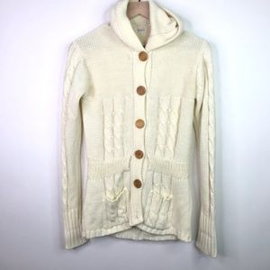 Vintage cardigan wooden buttons